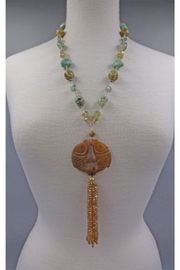 InStyle Trading Handcarved Fish Pendant With With Semiprecious Stones - Product Mini Image