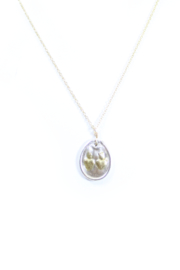 The Birds Nest HANDCRAFTED FINE SILVER OVAL SACRED HEART AND IMMACULATE HEART-16IN - Front cropped
