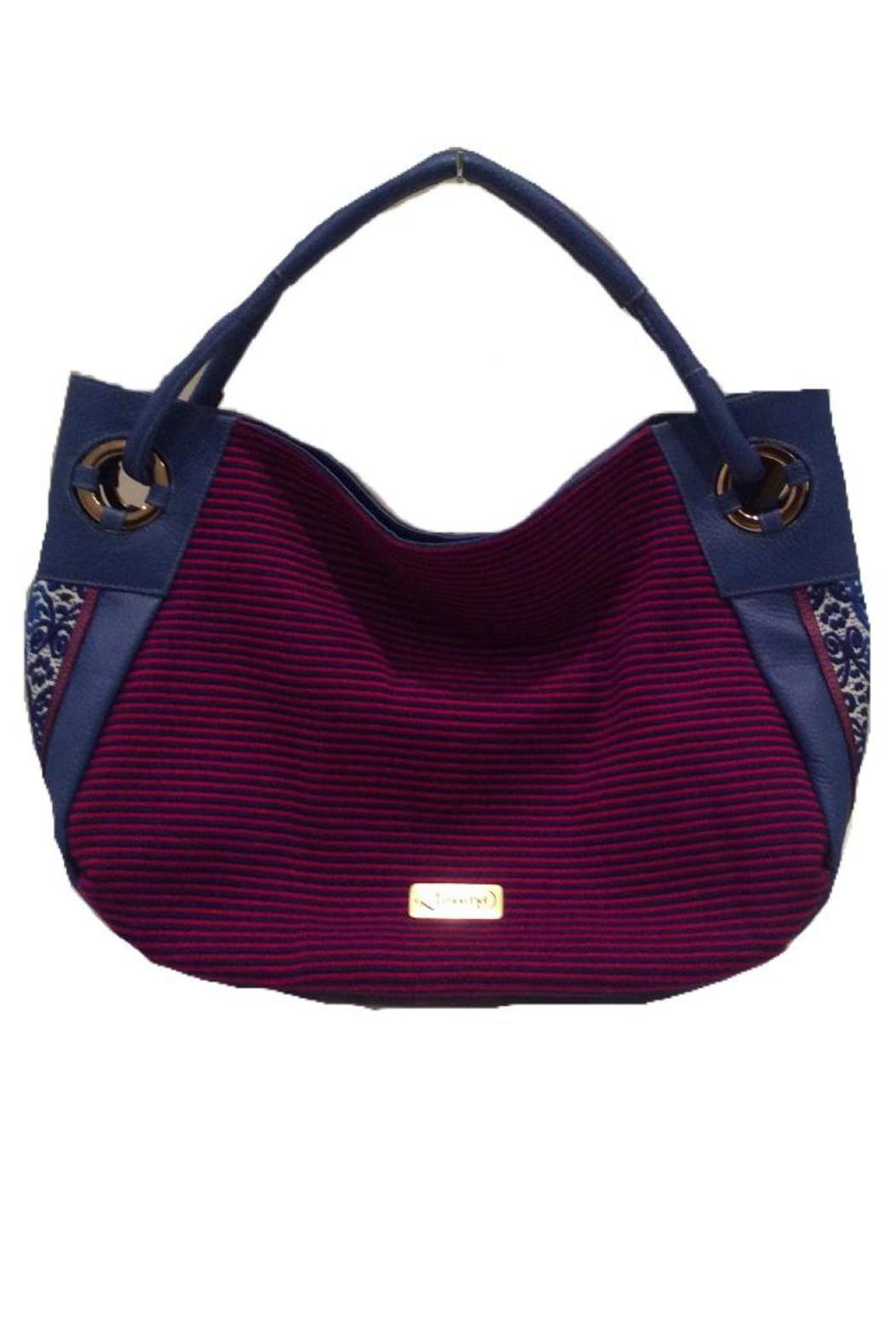 Limon Piel Handcrafted Leather Tapestry Handbag Front Cropped Image