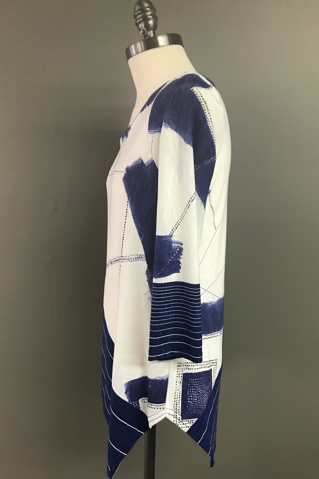 Michael Tyler Collections Handkerchief Hem Tunic - Front Full Image