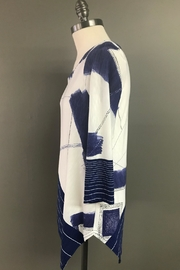 Michael Tyler Collections Handkerchief Hem Tunic - Front full body