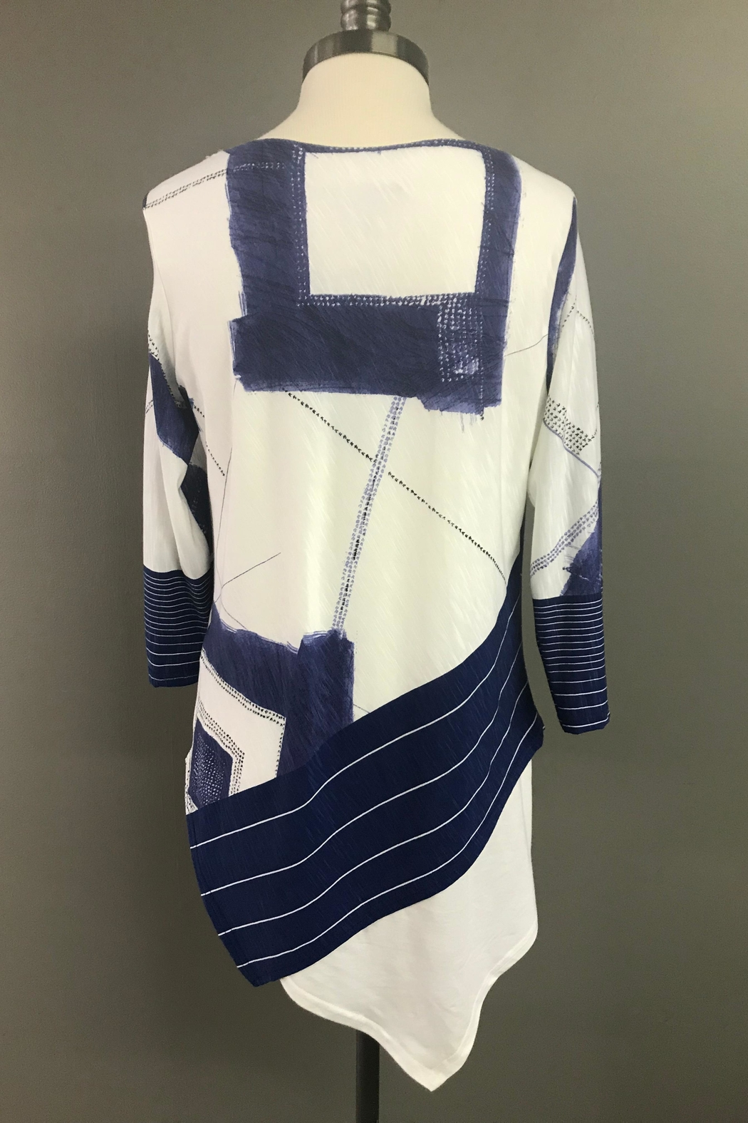 Michael Tyler Collections Handkerchief Hem Tunic - Side Cropped Image