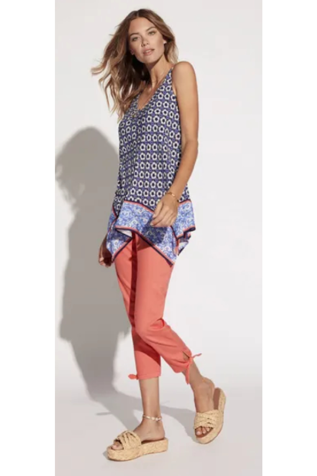 Tribal  Handkerchief Print Blouse - Side Cropped Image