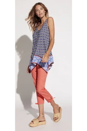 Tribal  Handkerchief Print Blouse - Side cropped