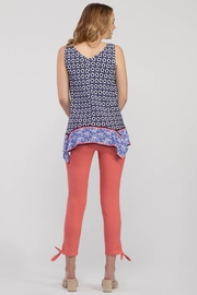 Tribal  Handkerchief Print Blouse - Front full body