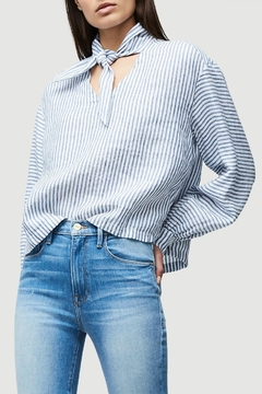 FRAME Denim Handkerchief Striped Blouse - Product List Image