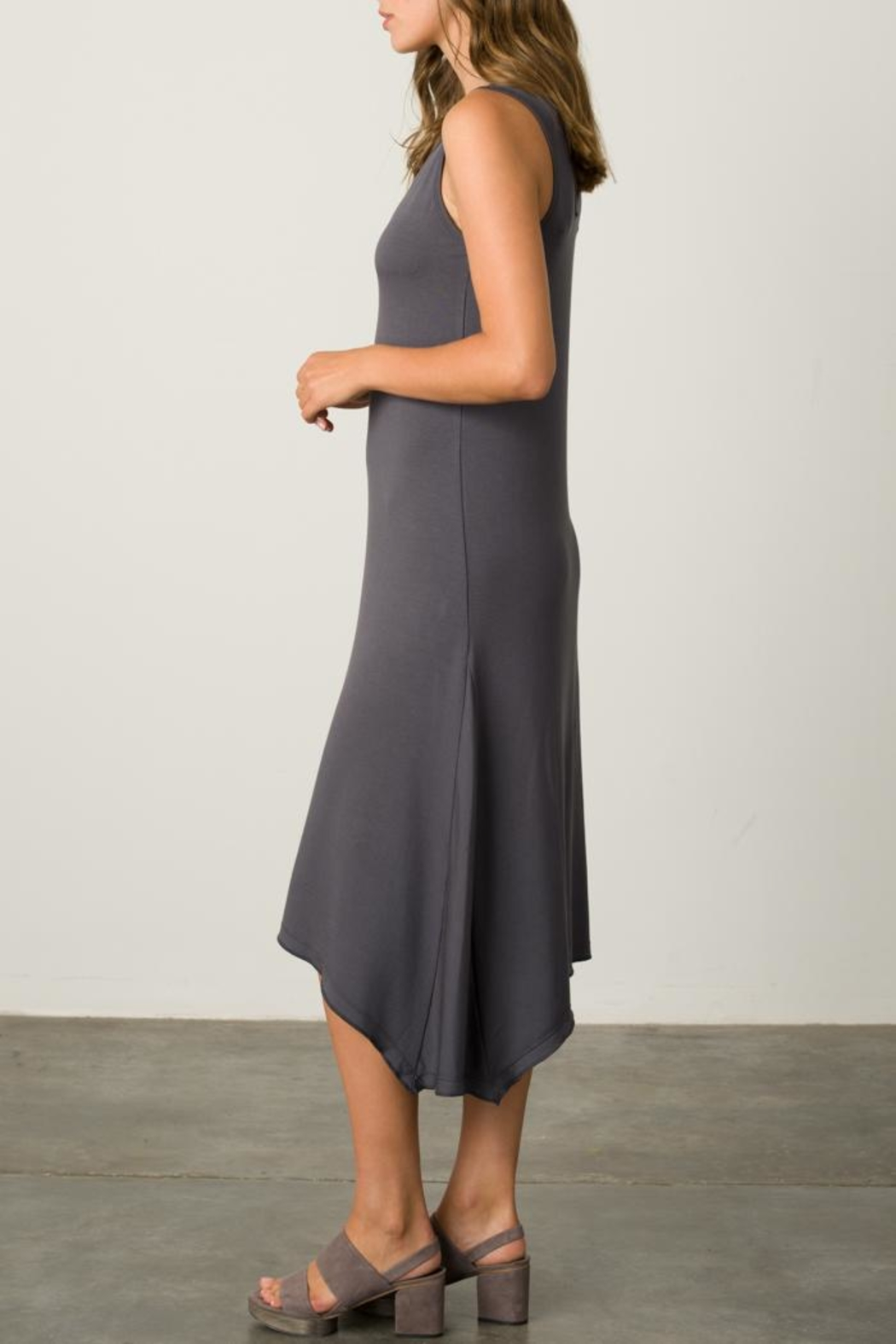 Margaret O'Leary Handkerchief Vee Dress - Front Cropped Image