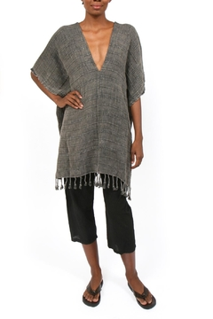 Handloom ed Tassel Poncho - Alternate List Image
