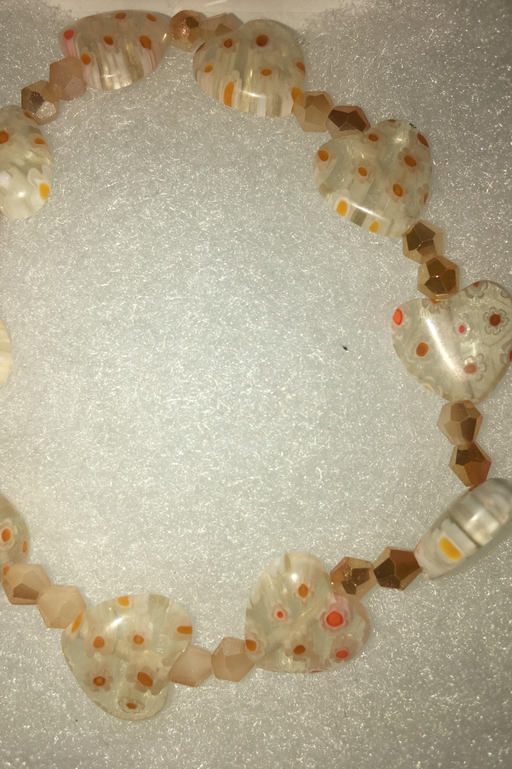 Hope With Hands Handmade Acrylic Bracelet w/ Swarovski Crystals - Front Cropped Image