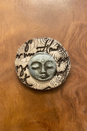 handmade  Handmade Clay Moon Face Brooch - Product Mini Image