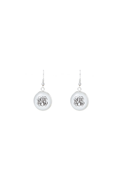 Shoptiques Product: Monogrammed Drop Earrings