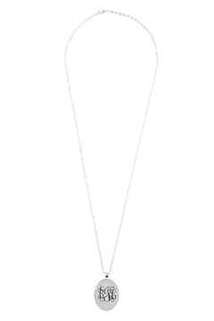 Handmade Designs Oval Monogrammed Pendant Necklace - Product List Image