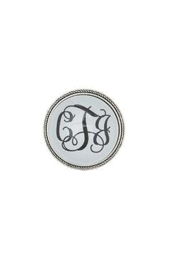 Shoptiques Product: Silver Monogrammed Brooch