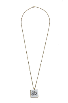 Handmade Designs Square Monogrammed Pendant Necklace - Product List Image