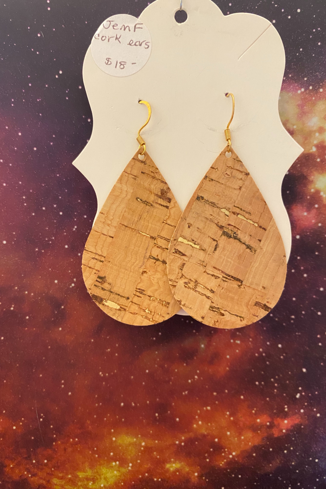 tesoro  Handmade Felt Teardrop Earrings - Main Image