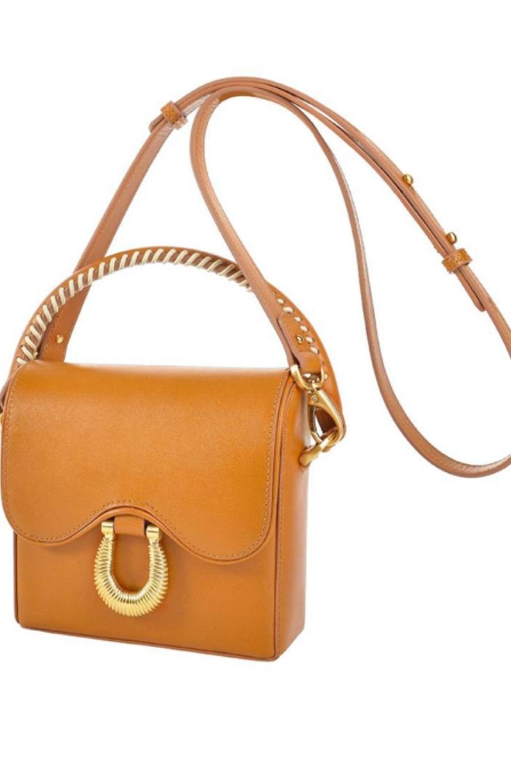 Sancia Handmade Leather Bag - Front Cropped Image