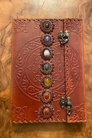 handmade   Handmade Leather Chakra Gemstone Journal - Product Mini Image
