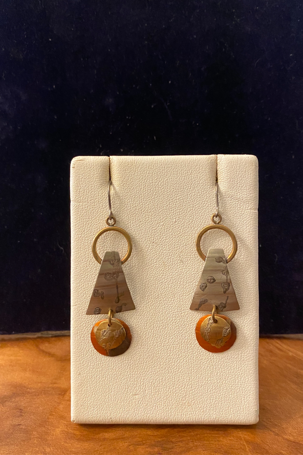 Whitney Howard Designs Handmade Mixed Metal Dangle Earrings - Main Image