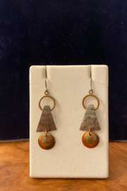 Whitney Howard Designs Handmade Mixed Metal Dangle Earrings - Product Mini Image