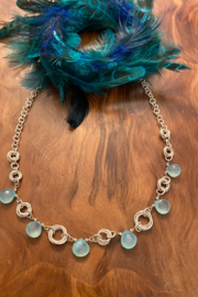 tesoro  Handmade Silver Links Apatite Necklace - Front cropped