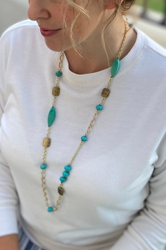 Marieken Handmade Turquoise necklace/earring set (#312) - Product List Image
