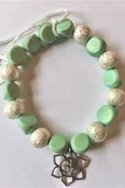 Handmade by local NY artist Beads Spiritual Bracelet With Aum In Lotus Charm - Product Mini Image