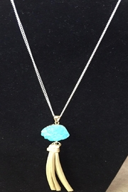 Handmade by local NY artist Designer Necklace With Stone Pendant - Product Mini Image