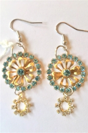 Handmade by local NY artist Swarovski Crystals Designer Earrings - Front cropped