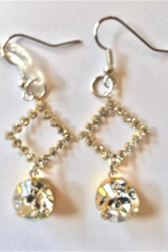 Shoptiques Product: Swarovski Crystals Luxurious Designer Earrings