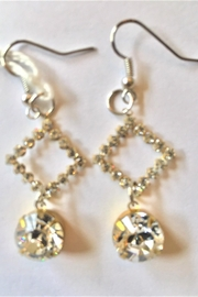 Handmade by local NY artist Swarovski Crystals Luxurious Designer Earrings - Front cropped
