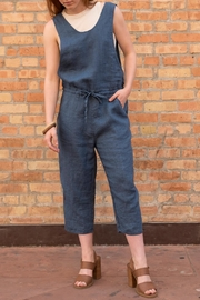 not Perfect Linen Cropped Linen Jumpsuit - Product Mini Image