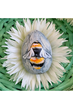 The Birds Nest HANDPAINTED BEE ON WOODEN EGG - Product List Image