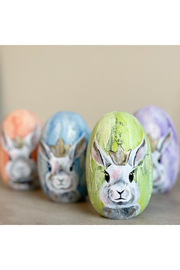 The Birds Nest HANDPAINTED BUNNY EGG WITH CROWN - Product Mini Image