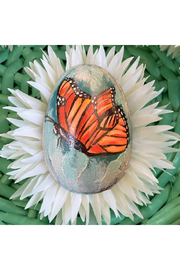 The Birds Nest HANDPAINTED BUTTERFLY EGG - Product Mini Image