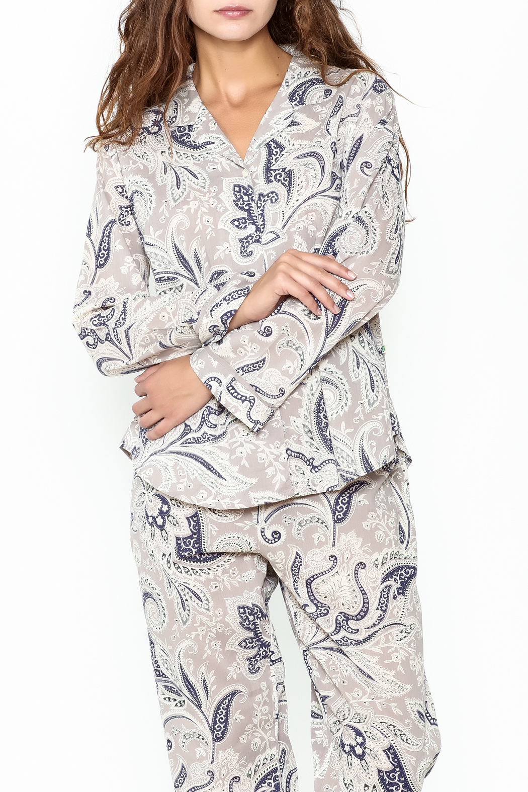 Handprint Vanessa Pajama Set - Side Cropped Image
