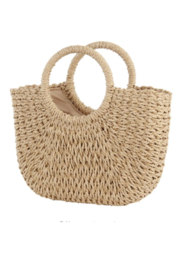 The Birds Nest HANDWOVEN RATTAN BEACH BAG - Product Mini Image