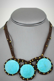 Embellish Handwoven Turquoise Necklace - Front full body