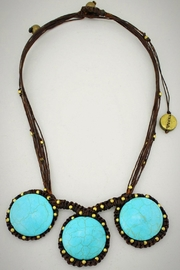 Embellish Handwoven Turquoise Necklace - Front cropped