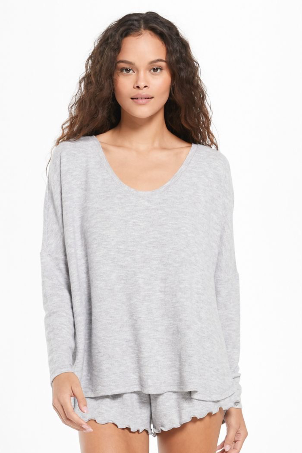 z supply Hang Out Long Sleeve Top - Front Cropped Image