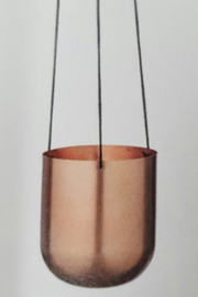 Bloomingville Hanging Copper Pot - Front cropped