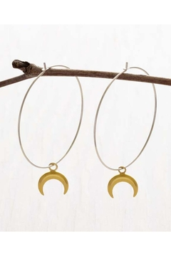 Amano Trading Hanging Crescent-Moon Hoops - Product List Image
