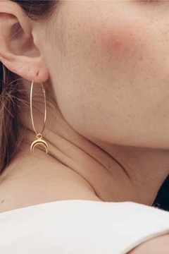 Amano Trading Hanging Crescent-Moon Hoops - Alternate List Image