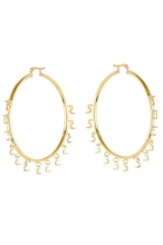 Viviana d Otanon jewelry Hanging Moons Hoops - Product Mini Image