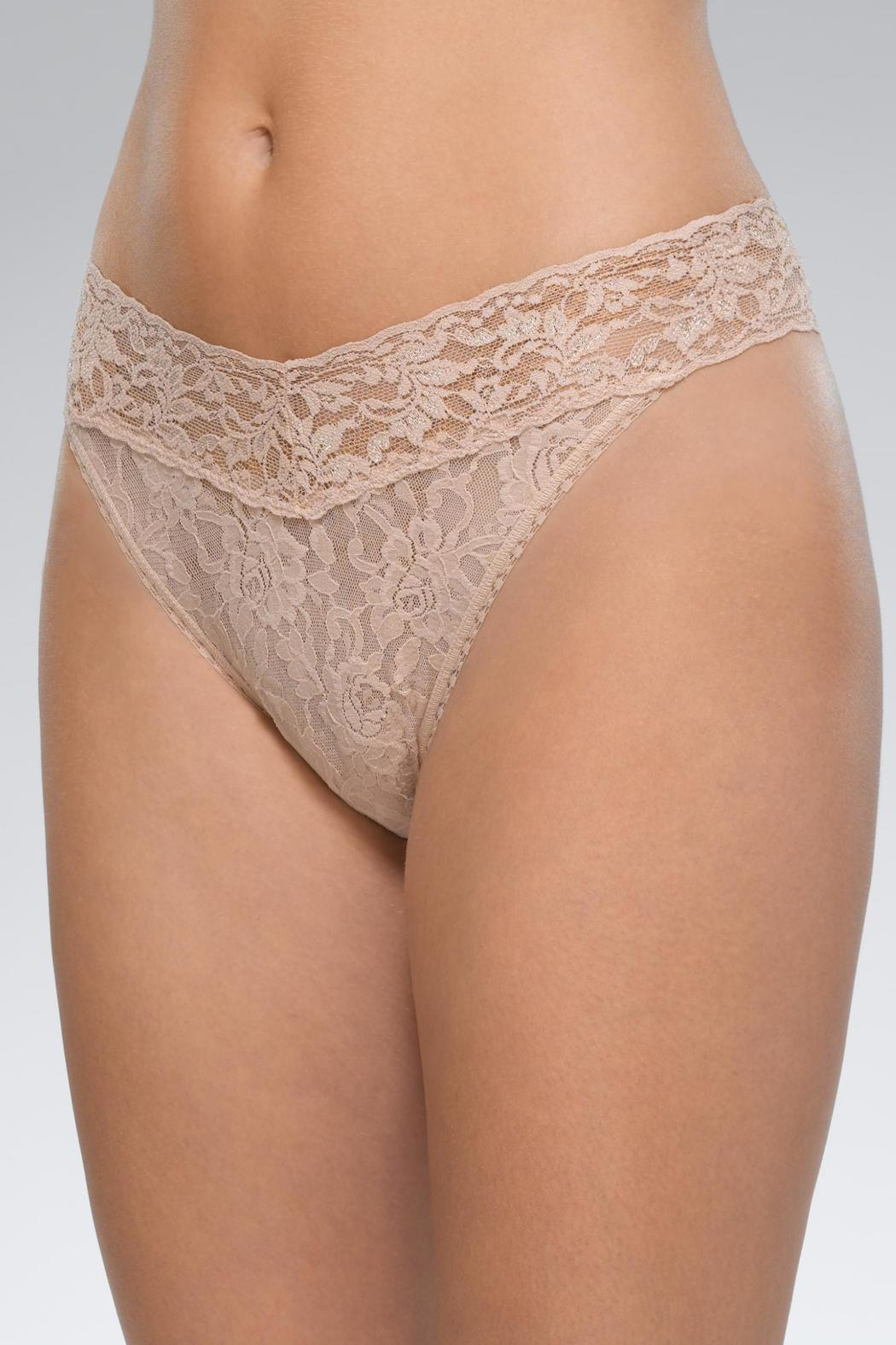Hanky Panky Lace Thong - Front Cropped Image