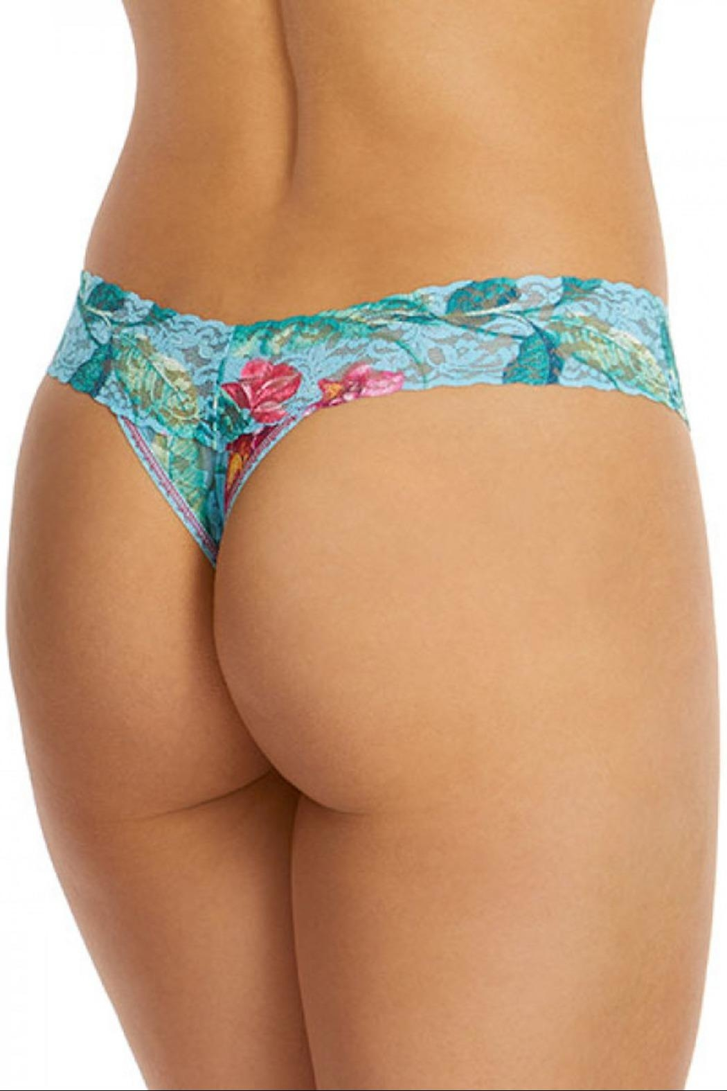 Hanky Panky Moonflower Low-Rise Thong - Side Cropped Image