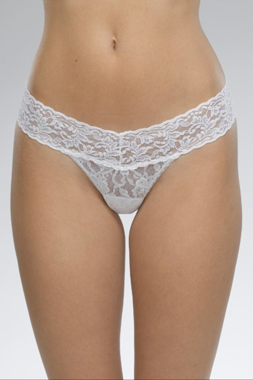 Hanky Panky White Low-Rise Thong - Main Image