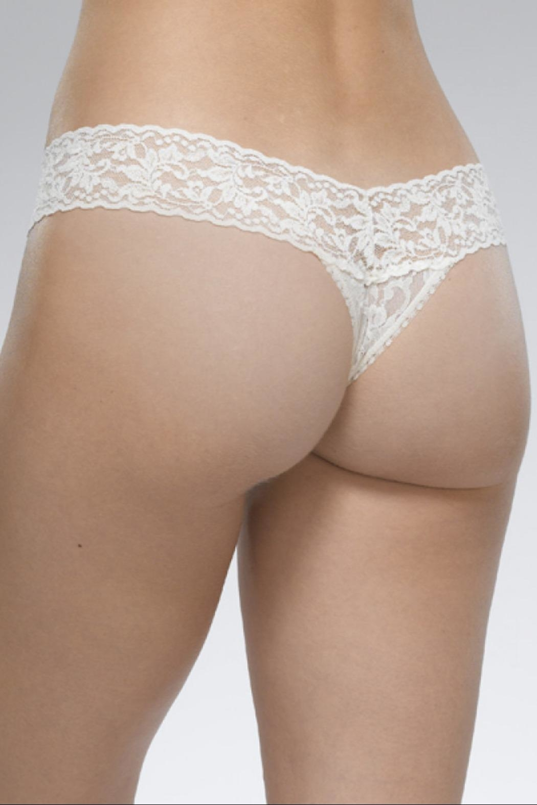 Hanky Panky White Low-Rise Thong - Front Full Image