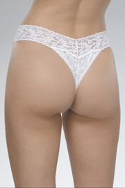 Hanky Panky White Original-Rise Thong - Front full body