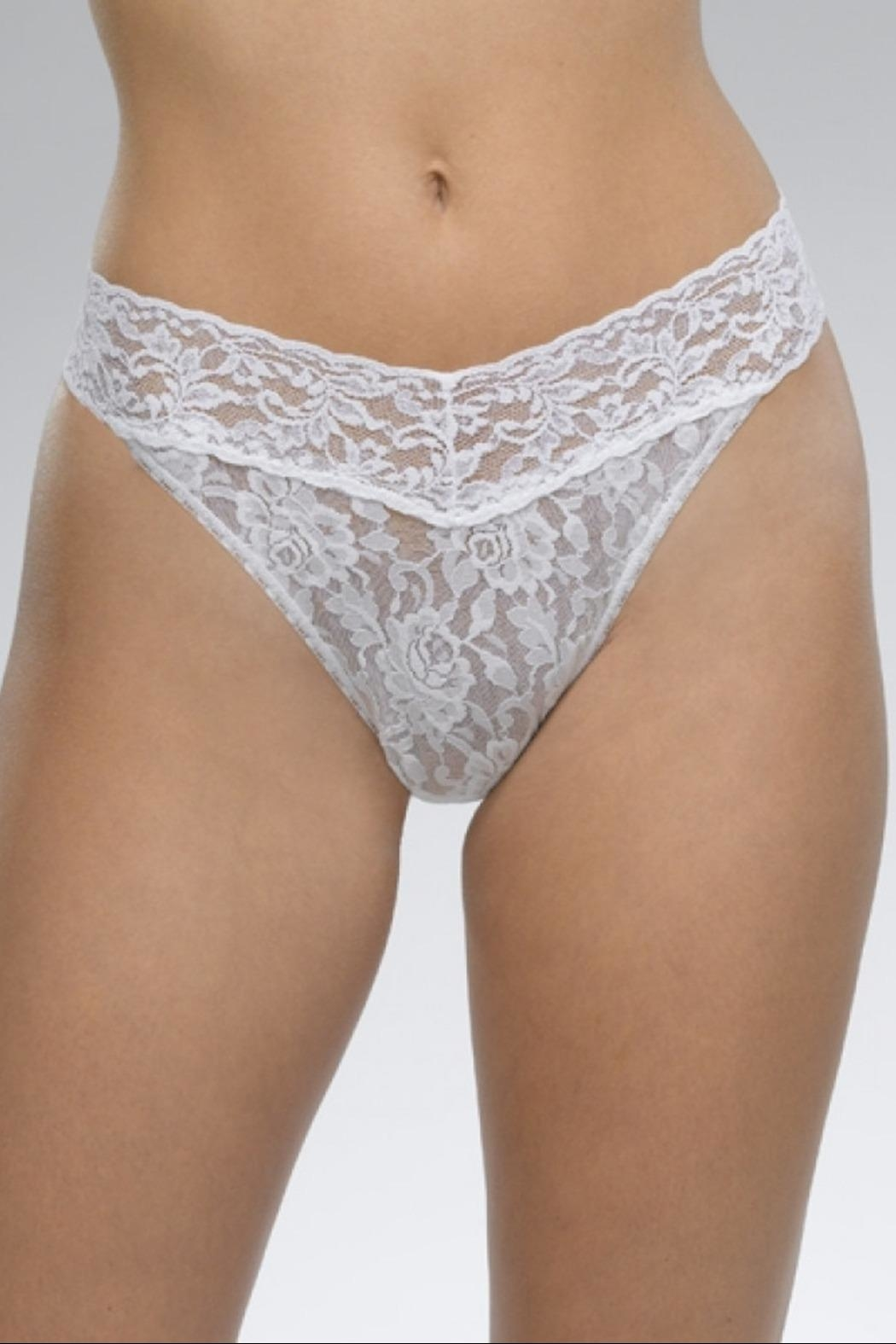 Hanky Panky White Original-Rise Thong - Front Cropped Image