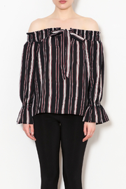 Sadie & Sage Hanna Striped Off the Shoulder Blouse - Front full body